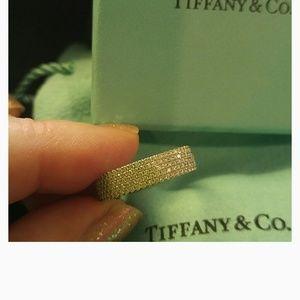 Tiffany & Co Metro 5 Row Diamond and 18kt Ring